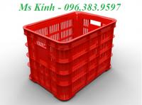 giá rổ nhựa chữ nhật đựng thực phẩm, thùng nhựa bít dài 60 cm, giá sóng nhựa 8 b