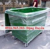 Cung cấp xe rác 660l đẩy tay chất lượng