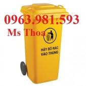 Thùng rác công nghiệp, thùng rác công cộng, thùng rác nhựa 90l, 120l, thùng rác