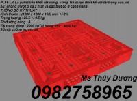 Pallet nhựa, Pallet kê hàng, Pallet dùng trong xưởng sản xuất giá rẻ