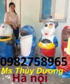 Thùng rác hình con gấu, thùng rác cá heo, thùng rác nhựa giá rẻ tại Hà Nội