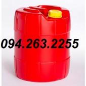 Can nhựa 30l, bình nhựa 20l, can đựng hóa chất, can nhựa vuông giá rẻ