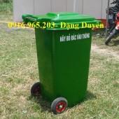 Địa chỉ bán thùng rác nhựa 240l xanh lá