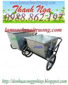 xe gom rác bằng tôn 400l