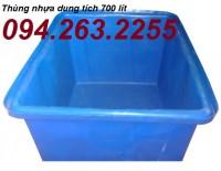 Thùng nhựa dung tích lớn, thùng nhựa 2000 lít đựng hóa chất giá rẻ