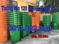Thùng rác nắp kín giá sỉ lẻ- thùng rác 120l 240l 660l giá rẻ tại trà vinh- lh 09