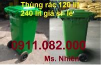 Chuyên sỉ lẻ thùng rác 120L 240L 660L giá rẻ cần thơ- lh 0911082000