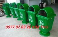 Thùng rác Composite 55l chân sắt,Thùng rác Composite 55l chân nhựa