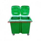 Thùng rác 660 lít, thùng rác nhựa Composite, xe gom rác 4 bánh xe 660 lít