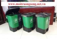 Thùng rác 2 ngăn phân loại 40l