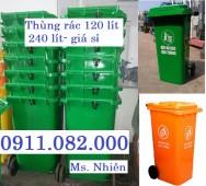 Bán thùng rác 120 lít giá rẻ- thùng rác 240 lít giá sỉ thấp nhất- 0911082000
