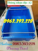 Thùng nhựa đặc A2 có quai xách, Hộp nhựa đặc A2 giá rẻ tại Hà Nội