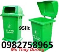 Cung cấp thùng rác công cộng nắp lật, thùng rác đô thị, thùng rác ngoài trời
