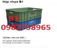 Sóng nhựa bít b1 , thùng nhựa đặc giá rẻ