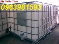 Thùng nhựa 1000 lít, tank nhựa 1000 lít, tank IBC 1000 lít, thùng chứa hóa chất