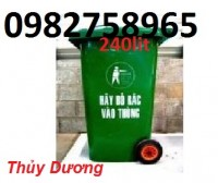 Thùng rác công cộng, thùng rác nhựa HDPE, thùng rác 120 lít, thùng rác giá rẻ