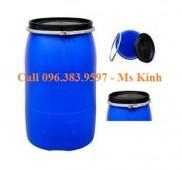 thùng phi nhựa nắp mở 220 lít, nhà sản xuất thùng nhựa, thùng phuy nhựa 50L