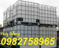 Tank nhựa, tank IBC 1000 lít, thùng nhựa 1000 lít, thùng đựng hóa chất, bồn nhựa