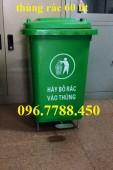 Bán thùng đựng rác nhựa 2 bánh xe giá rẻ