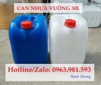 Can nhựa vuông 30L, can nhựa đựng hóa chất 30L