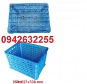 Sóng nhựa đan, sóng nhựa HS011, rổ nhựa đựng trái cây giá rẻ