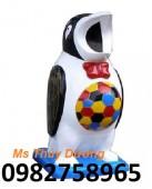 Thùng rác hình gốc cây, thùng rác chim cánh cụt, thùng rác nhựa PP