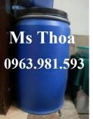 Thùng phuy nhựa 220 lít, thùng phuy nhựa giá rẻ.