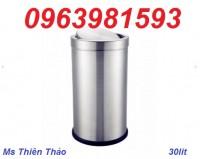 Thùng rác inox, thùng rác hành lang, thùng rác văn phòng giá rẻ