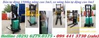 Bán tự động 1500kg, xe nâng bán tự động 1500kg cao 3m3 khuyến mãi Hotline (028)