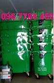 Bán thùng đựng rác môi trường công cộng 660 lít giá rẻ.