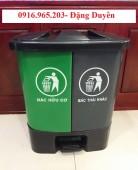 Thùng rác nhựa đạp chân 2 ngăn 40l