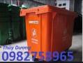 Thùng rác Composite, thùng rác công cộng, xe gom rác 660 lít, xe gom rác 3 bánh
