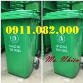 Thùng rác giá rẻ hàng đầu việt nam- thùng rác 120L 240L 660L giá rẻ- lh 09110820