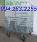 Cung cấp lồng thép chứa hàng, lồng thép di động, xe đẩy hàng giá rẻ