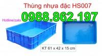 thùng chứa HS007, thùng nhựa đặc có nắp HS007, sóng nhựa đặc HS007, thùng nhựa đ