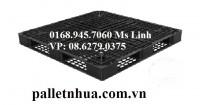 Pallet nhựa đen 1100x1100x125mm ( Thanh lý ) giá 260.000đ