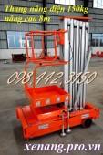 Thang nâng điện đơn, thang nâng điện 150kg cao 8 mét giảm giá cực sốc