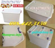Giảm giá – khuyến mãi thùng vuông, thùng nhựa đa năng giá sốc call 0984423150