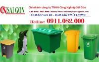Chuyên cung cấp thùng rác 2 ngăn, 3 ngăn giá tốt- thùng rác 120L 240L giá rẻ- lh