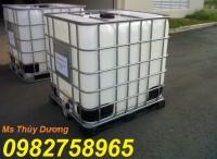 Thùng chứa hóa chất, thùng đựng dung môi, thùng nhựa trắng 1000l giá rẻ