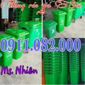 Nơi bỏ sỉ thùng rác nhựa, thùng rác 120L 240L 660L giá rẻ nhất- lh 0911.082.000