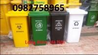 Thùng rác y tế 90 lít, thùng rác y tế màu vàng, thùng rác nhựa giá rẻ