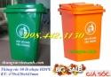 Thùng rác 60 lít, thùng rác 90 lít, thùng rác nhựa hdpe giảm giá cực sốc