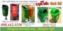 Thùng rác 50L, thùng rác treo 55L, thùng rác nhựa composite giá siêu rẻ