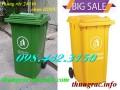 Thùng rác 240L, thùng chứa rác 240L, thùng rác nhựa 240 lít giá siêu rẻ