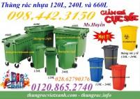 Sỉ/lẽ thùng rác nhựa 120L, 240L và 660L giá siêu rẻ, giảm giá sốc