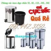 Bán thùng rác inox đạp chân giá siêu rẻ call 0984423150 – Huyền
