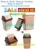 Giảm giá – khuyến mãi sốc thùng rác nắp lật, thùng rác nắp bập bênh, thùng rác