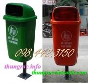 Thùng rác treo đơn, thùng rác treo 50 lít nhựa composite giá siêu rẻ