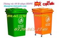 Giảm giá sốc thùng rác 60 lít nhựa HDPE call 0984423150 – Huyền